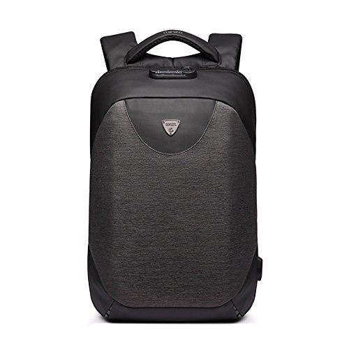 Rucksack Männer Reiserucksack Casual Anti-Diebstahlsicherung USB wasserdicht Oxford Tuch Laptop Daypack Commerce Geschäftsreise (Farbe : Schwarz, größe : 11 * 5.1 * 16.9in) -