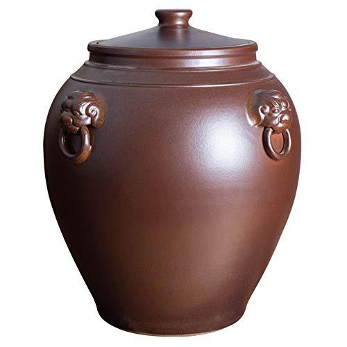 Serbatoio da cucina in ceramica per riso, secchio per farina, contenitore per cereali, resistente all'umidità e agli insetti