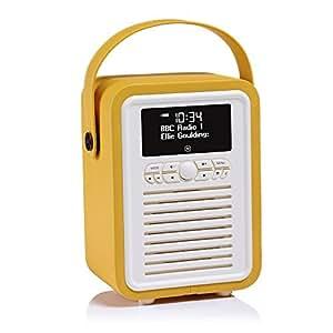 vq retro mini dab dab digital radio with fm bluetooth. Black Bedroom Furniture Sets. Home Design Ideas