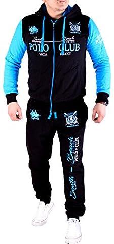 Herren Jogginganzug Polo Club Design (M-Slim, Blau)