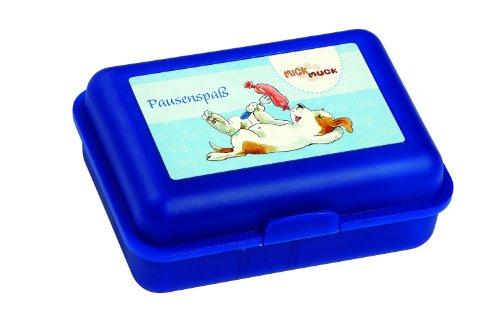 Pagna 20507-06 - Brotdose Mick und Muck - Pausenspaß, Motiv Knackwurst, blau