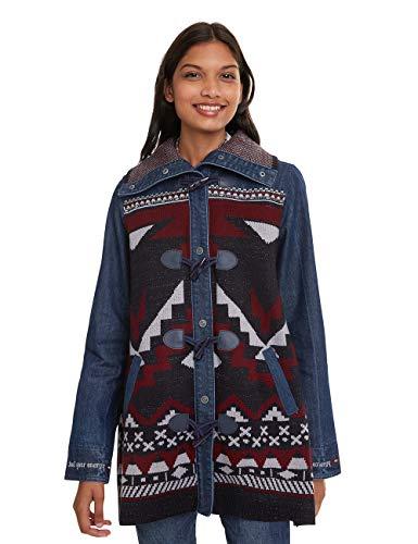 Desigual Coat NAVAI Abrigo, Azul Denim Dark Blue 5008, 36 para Mujer