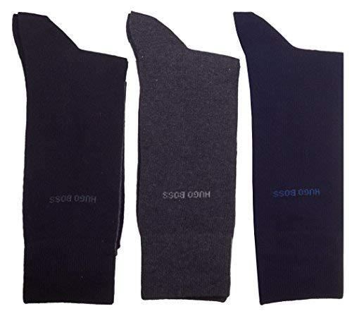 Hugo Boss - Chaussettes basses - Uni - Homme 3 Colour Pack (Black/Grey/Navy)