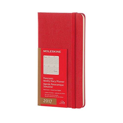 2017 Moleskine Scarlet Red Slim Panoramic Diary 12 Month Weekly Hard epub