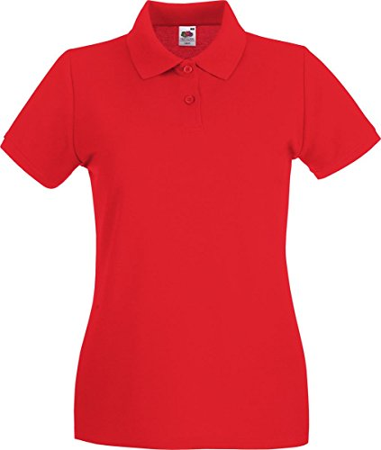 Fruit of the Loom SS078M, Polo Femme Rouge