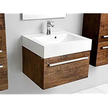 aqua bagno badm bel 80 cm inkl keramik waschtisch waschplatz badezimmer m bel inkl. Black Bedroom Furniture Sets. Home Design Ideas