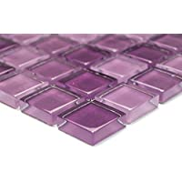 Kristall Glasmosaik Mosaik Fliese Lila Mix 25x25x8mm