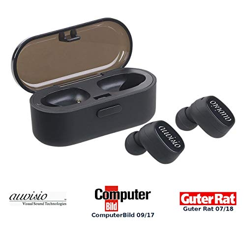 auvisio Stereo Headset Bluetooth: True Wireless In-Ear-Stereo-Headset mit Lade-Etui, 10 Std. Spielzeit (True Wireless Kopfhörer) Wireless-stereo-headset