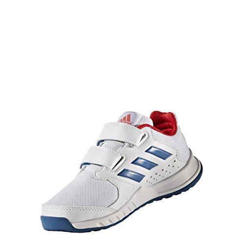 adidas Fortagym Cf K, Scarpe da Ginnastica Unisex – Bambini Bianco (Ftwbla/Azubas/Rojbas)
