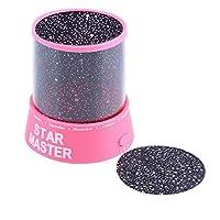 Romantic Amazing Cosmos Moon Colorful Master Star Sky Universal Night Light Kid Chidren Projector Lamp Christmas Gift Present(Pink) Jasnyfall