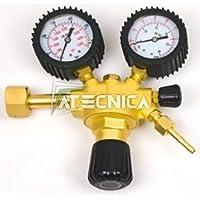 Riduttore di pressione 315bar per saldatura Argon/CO2 2 manometri attacco