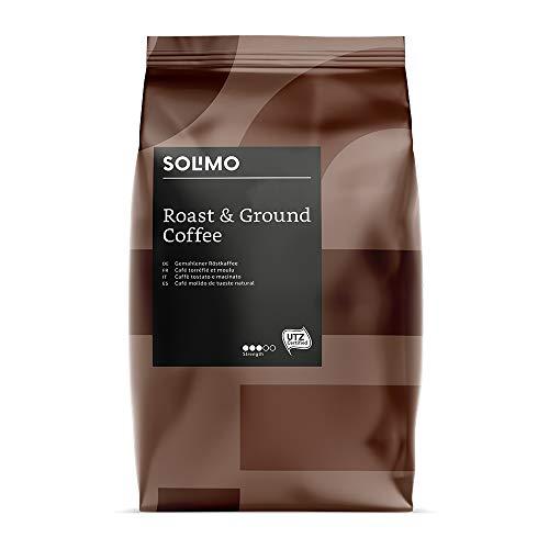 Marca Amazon - Solimo Café molido Aroma compatible con todos los usos - certificado UTZ, 1,36 kg (6 x 227g)