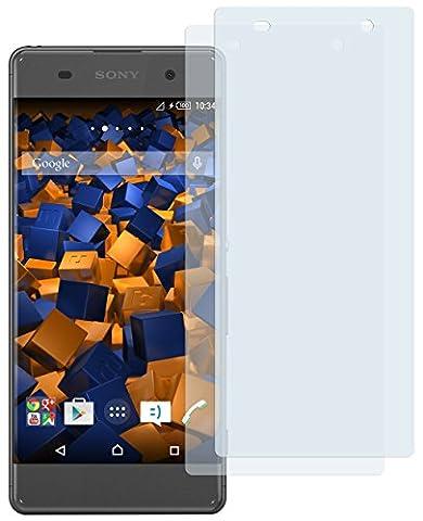 2 x mumbi Displayschutzfolie für Sony Xperia XA Schutzfolie (bewusst kleiner als das Display, da dieses gewölbt