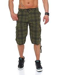 cleostyle Bermudas para Hombres Pantalones de Verano Pantalón Corto Cortos  Cargo Pantalones Deportivos Cuadro 6037 49bef9a6d2b1