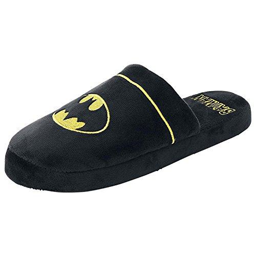 Ufficiale DC Batman Black and Yellow Logo Adulti Mule Slip On Pantofole - 2 Formati (EU 38-41)