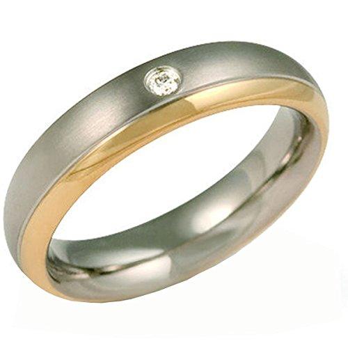 Boccia Herren-Ring Titan Diamant weiß Gr.60 (19.1) 0130-1260