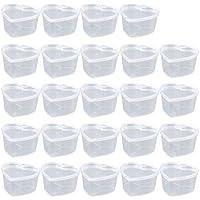 AOLVO Slime contenedores, Forma de corazón, Slime contenedores sin BPA plástico Bola de Almacenamiento contenedores con Tapas para Pegamento/Agua/fosmética/plasticina, 24 Unidades, 20 g