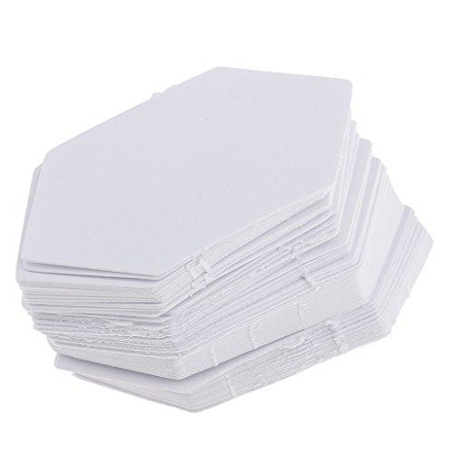 sharplace 200Stück Sechseck Form Papier Quilting Vorlage Englisch Papier für nahtzugabe patchwork4.2cm + 7.9cm