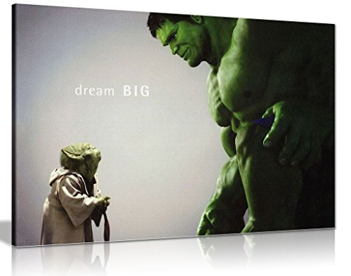 Leinwand, Motiv: The Hulk Comic-Bücher,Kunstdruck, A1 76x51 cm (30x20in) (Leinwand Gerahmte Avengers Kunst)