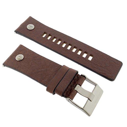 Diesel Uhrband Wechselarmband LB-DZ7314 Original Ersatzband DZ 7314 Uhrenarmband Leder 28 mm Braun