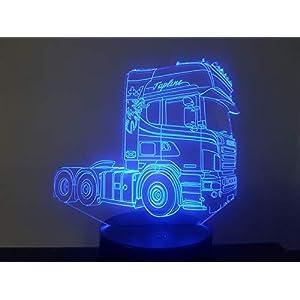LKW SCANIA (2), 3D-Lampe LED