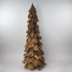Abeto Árbol Árbol de Navidad árbol decorativo Madera, Natural, 120cm