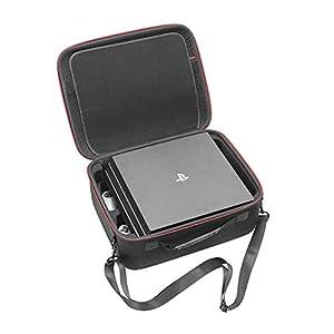 RLSOCO Tasche für Playstation 4 & Playstation 4 PRO Konsole und PS4 & PS4 Pro Controller, Wireless Kopfhörer,Videospiel DVDs und anderes Zubehör