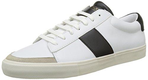 Jim Rickey Gusten, Baskets Basses Homme Blanc (White/Black)