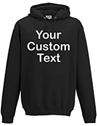 Printed Custom Personalised Hooded Sweatshirts, kids and adults custom hoodie Pullover 300 gsm hoodie with CUSTOM text print