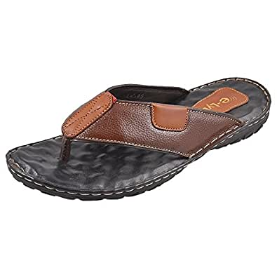 E Lyte Comfort Chappal Mens Thong Slippers Est 84046- Brown (12)