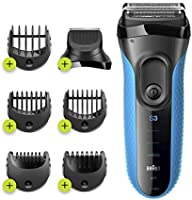 Braun Series 3 Proskin Shave&Style 3010BT 3-in-1 Electric Shaver Wet & Dry Razor for Men with Precision Beard Trimmer...