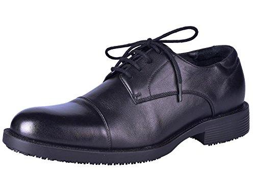 DDTX Chaussures de Travail pour Hommes SRC Non Slip ENISO 20345 Électricien pour Chef et Directeur Commercial Administration de Bureau Lacets Noirs 39-48EU
