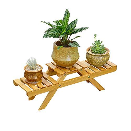 YoZhanhua 3-stöckiger Holz-Blumenständer für Pflanzen, Blumentopfregal, Gartenregal, Leiter für drinnen und draußen.