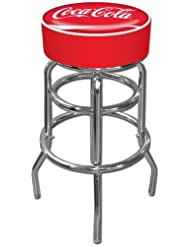 Coca-Cola Padded Swivel Bar Stool by Trademark Gameroom