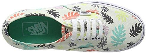 Vans Authentic, Sneakers Basses Mixte Adulte Multicolore (Washed Kelp/Multi/White)