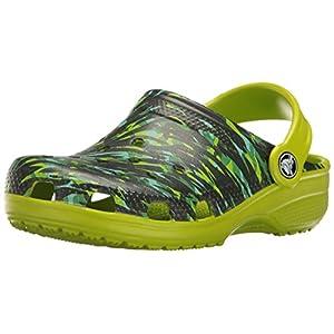 Crocs Classic Graphic Clog K, Sabot Unisex – Bambini, Verde (Volt Green), 27-28 EU