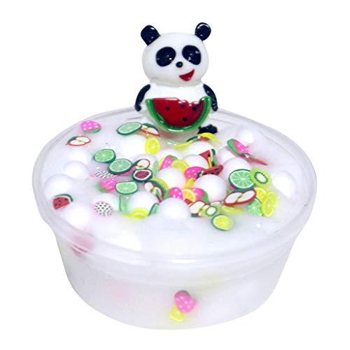 Covermason Squishy Toys 60 ml Fluffy Slime Slow Rising Spielzeug Flauschige Schleim Farbmischung Wolkenschleim Matschig Putty Duftend Entspannung Kinder Spielzeug (B)