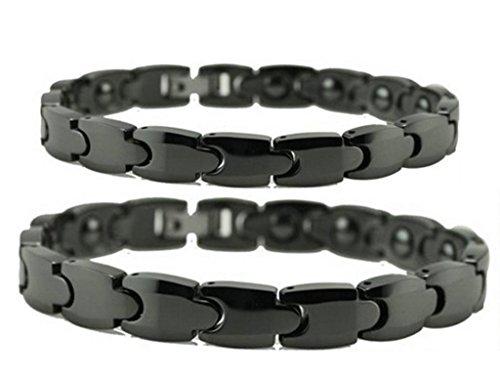 Daesar 2PCS Sein & Ihr Armband Set Keramik Schwarz Kettenarmband für Herren und Damen; Jahrestag (Beste Freundin Ideen Passenden Kostüm)