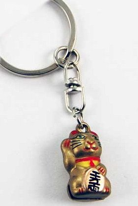 small-waving-cat-design-keyring-keyob-lucky-chinese-waving-cat