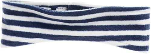 Playshoes Kinder Stirnband aus Fleece maritim wärmendes Accessoire mit Klett-Verschluss, marine/weiß, one size