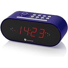 Smartwares CL-1498 – Reloj Despertador con Dos Alarmas, Radio FM, Proyector,
