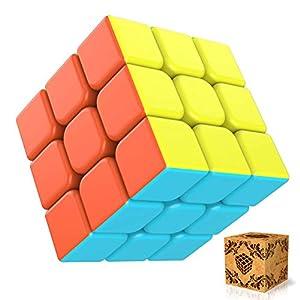 41p3rFVD%2BoL. SS300  - SPLAKS Zauberwürfel 3x3x3 magisch Würfel Speed Cube mit einstellbaren Dreheigenschaften-ohne Aufklebe Neujahr Geschenk