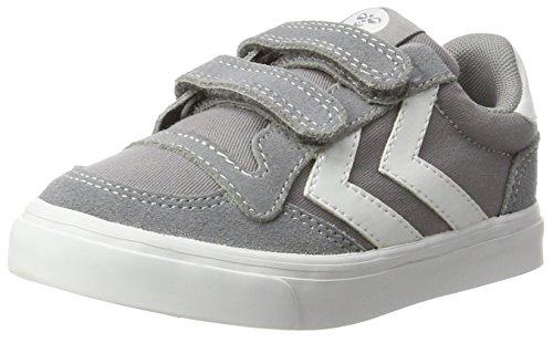 hummel Stadil Canvas Mono Low Jr, Sneakers Basses Mixte Enfant, Gris (Frost Grey), 34 EU