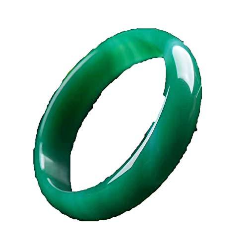 KTT Bracciale in Giada Verde Bracciale in Argento con Gemme naturali56-64MM