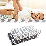 Set tappetino per fasciatoio, 2 pezzi Coprimaterasso per fasciatoio ultra morbido con rivestimento per fasciatoio per neonati e bambini