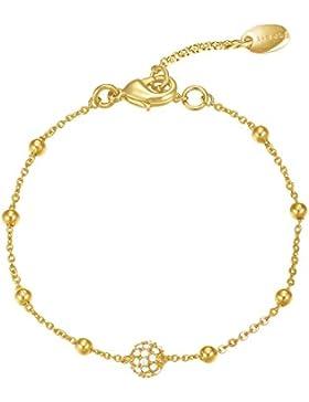 Esprit Damen-Armband JW50229 Messing rhodiniert Zirkonia weiß Rundschliff 16 cm - ESBR01889B160