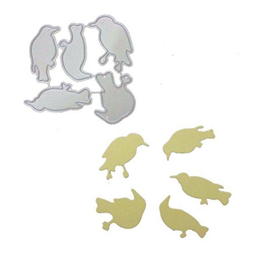 FNKDOR Stanzmaschine Stanzschablone, Scrapbooking Schablonen Prägeschablonen Stanzformen, Zubehör für Sizzix Big Shot und Andere Prägemaschine (E)