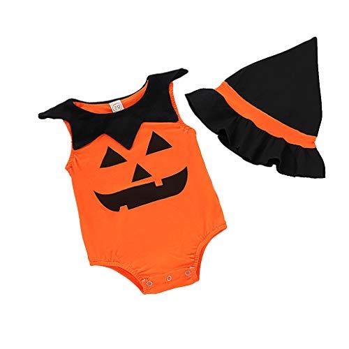 POLP Halloween Disfraz Niño Niña Cosplay Calabaza Bebe Monos Mameluc