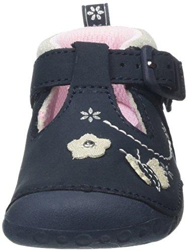 Start Rite Mayflower Narrow, Chaussures Ramper Bébé Fille Bleu (Navy)