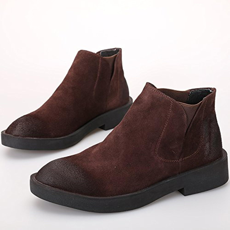 hohe hilfe freizeit   schuhe  chelsea boots  leder kurze stiefel  um kopf und hohen schuhen helfen des 39